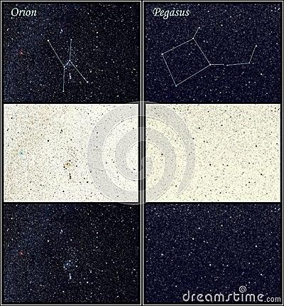 Constellation Orion Pegasus