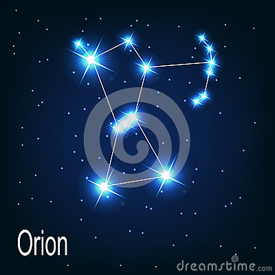 The constellation Orion star in the night sky.