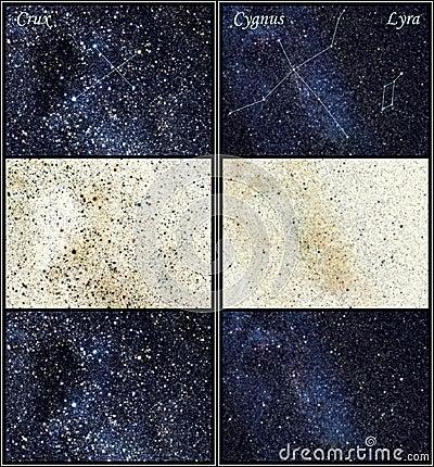 Constellations Crux Cygnus Lyra