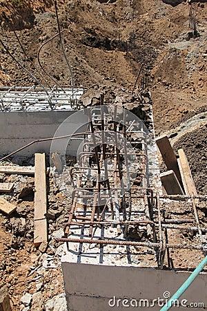 Constraction site. Concrete work