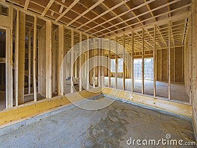 Construcción interior de la casa