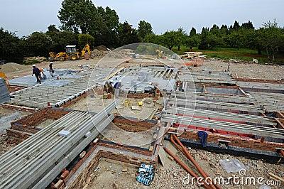 Constructing Block & Beam Floor
