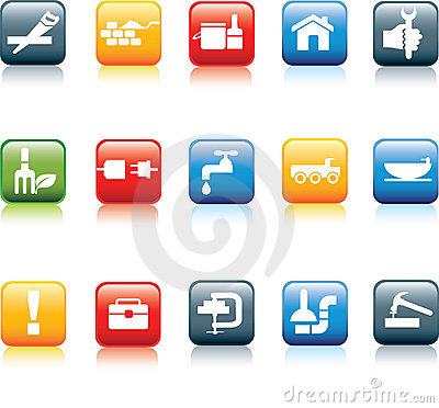 Free Construction And Diy Icon Set Stock Images - 14409194