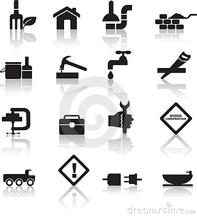 Free Construction And Diy Icon Set Royalty Free Stock Images - 14409219