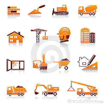 Free Construction And Real Estate Icons Stock Photography - 23375102