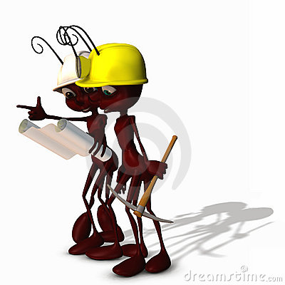 Free Construction Ants 3 Stock Photo - 3434620