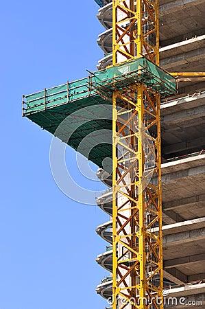 Construction area under blue sky