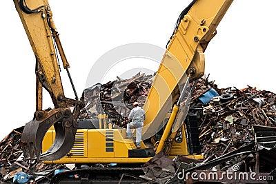 Construction building demolished