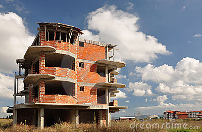 Construction in Bulgaria.