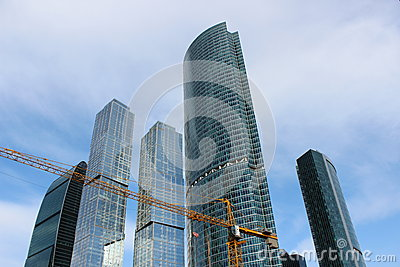 Construction of business center Moscow-City