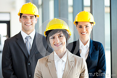 Construction businessman businesswoman