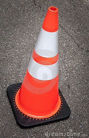 Free Construction Cone Royalty Free Stock Photography - 21685617