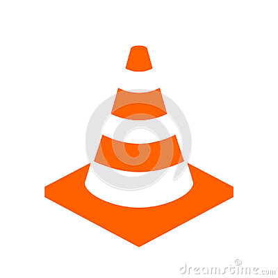 Free Construction Cone Vector Icon Stock Images - 96775824