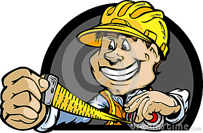 Construction Contractor with Tape Measure