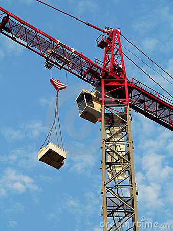 Free Construction Crane, Close Crop Royalty Free Stock Photography - 188347