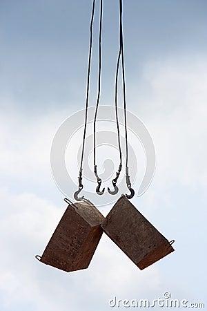 Construction crane hooks