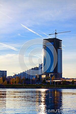 Free Construction Crane Near The Skyscraper Stock Images - 16821154