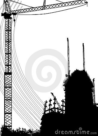 Construction and crane vector