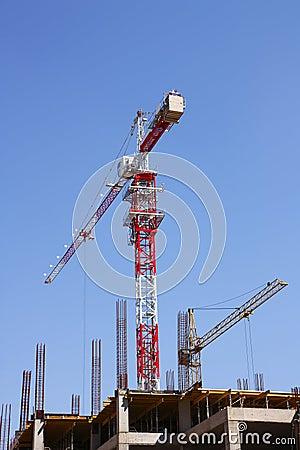 Free Construction Cranes Stock Photography - 12570372
