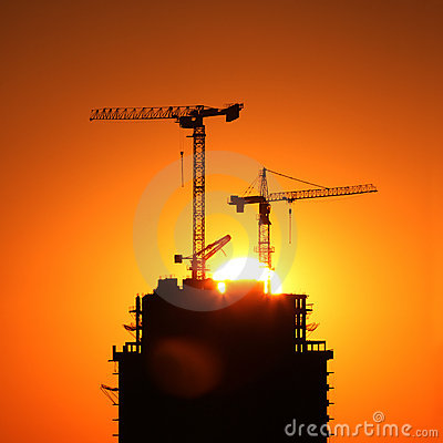 Free Construction Cranes Royalty Free Stock Photos - 14576098