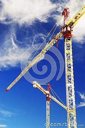 Free Construction Cranes Royalty Free Stock Image - 3138156