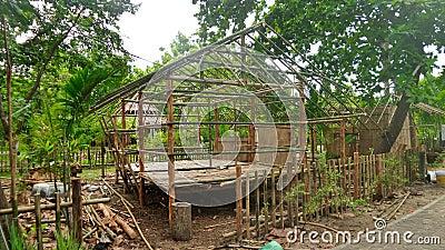 construction d 39 une hutte en bambou dans la for t tropicale en tha lande photo stock image. Black Bedroom Furniture Sets. Home Design Ideas