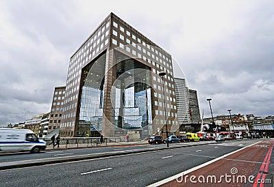 Construction de passerelle de No.1 Londres Image stock éditorial