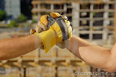 Construction Deal, handshake