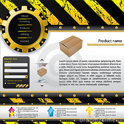 Construction design web template
