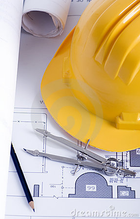 Free Construction Drawings Royalty Free Stock Photography - 3812827