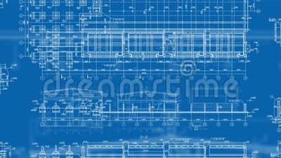 Construction Drawings Looped Backgrounds stock video
