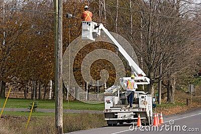 Construction electricians