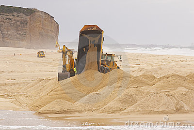 Construction equipment at work