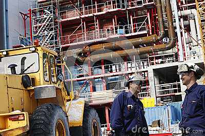 Construction of factory and site workers