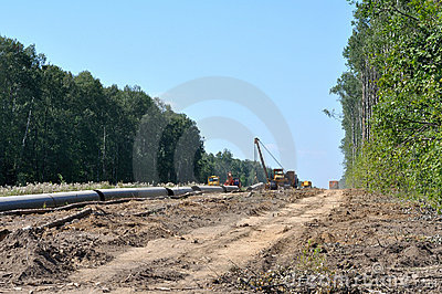 Construction of a gas pipeline
