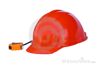 Construction helmet and Tape Measure