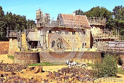 Construction of a historic castle