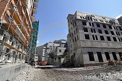 Construction of hotel complex