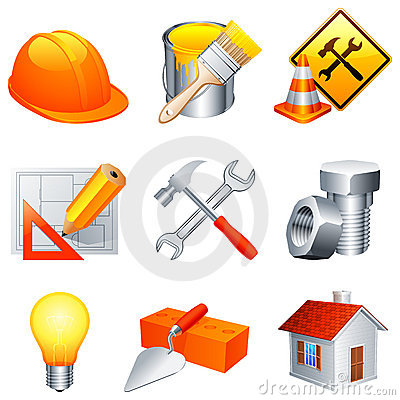 Free Construction Icons. Stock Image - 19152471