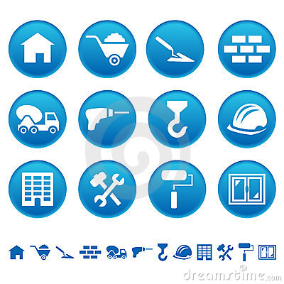 Free Construction Icons Royalty Free Stock Images - 19209129