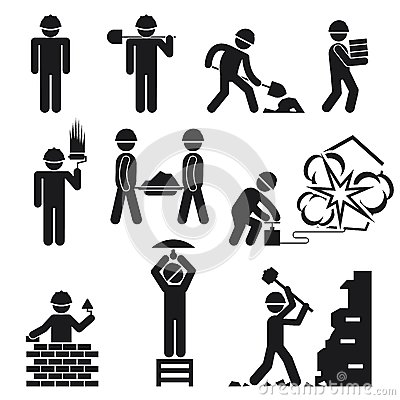 Free Construction Icons Royalty Free Stock Images - 45547259