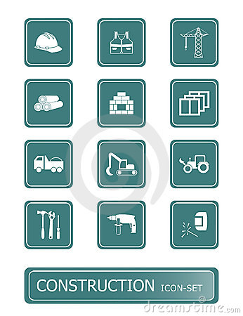 Free Construction Icons | TEAL Series Stock Image - 4282531