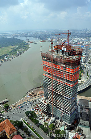Free Construction In Ho Chi Minh City, Saigon Vietnam Stock Photo - 19786740