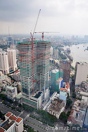 Free Construction In Ho Chi Minh City, Saigon Vietnam Royalty Free Stock Images - 19786759