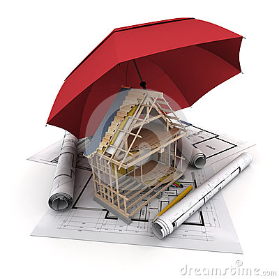 Construction insurance stock illustration image 45121719 for House construction insurance