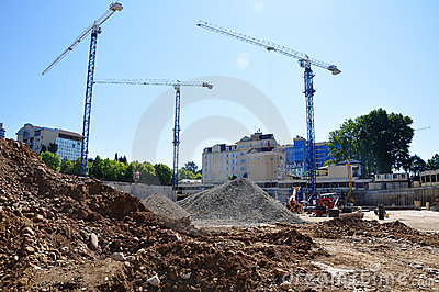 Construction of International Olympic University Editorial Stock Photo