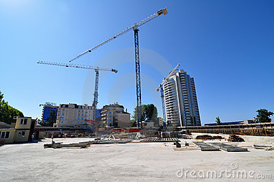 Construction of International Olympic University Editorial Image