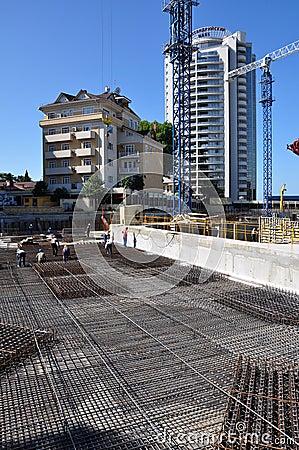Construction of International Olympic University Editorial Stock Photo
