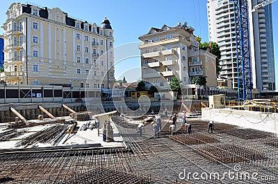 Construction of International Olympic University Editorial Photo