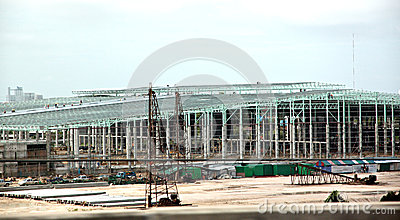Construction of large industrial plants.